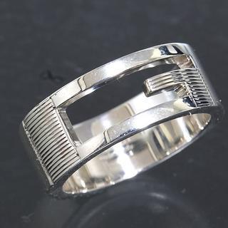 グッチ(Gucci)のグッチ GUCCI Gロゴ シルバー リング 16号 SV925 新品仕上済(リング(指輪))