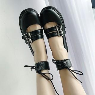 新 品   可愛い    ロリータ  リングバックル 靴  (ローファー/革靴)