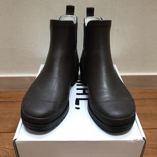 マーガレットハウエル(MARGARET HOWELL)のMHL.レインブーツ ダークブラウン 23.5cm〜24.0cm(レインブーツ/長靴)