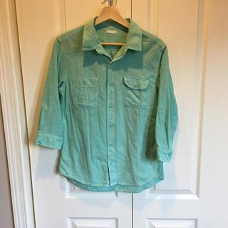 ジーユー(GU)のGU シャツ 7部丈 ミント色(Tシャツ(長袖/七分))