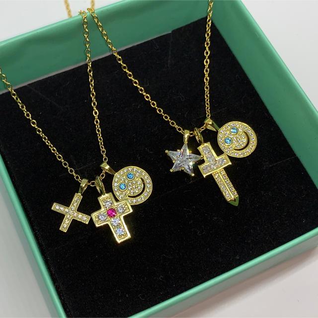 EYEFUNNY(アイファニー)の18k plating cz diamond smile necklace.B メンズのアクセサリー(ネックレス)の商品写真