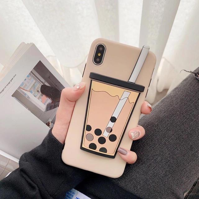 タピオカiPhoneケース タピオカミルクティーの通販 by 発送月曜水曜金曜日|ラクマ