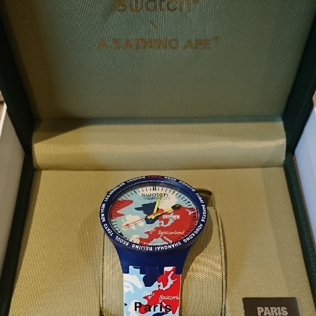 A BATHING APE - bape swatch エイプ スウォッチ スオッチ ベイプ paris パリの通販 by 鈴木's shop|アベイシングエイプならラクマ