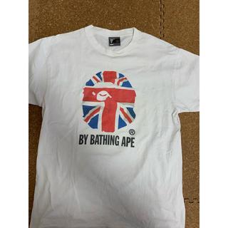 アベイシングエイプ(A BATHING APE)の激レアLサイズ!初期 BAPEユニオンジャック カレッジ猿Tシャツ(Tシャツ/カットソー(半袖/袖なし))