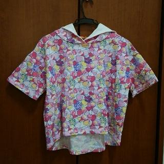 シマムラ(しまむら)のチュッパチャプス パーカー 半袖 子供服(Tシャツ/カットソー)