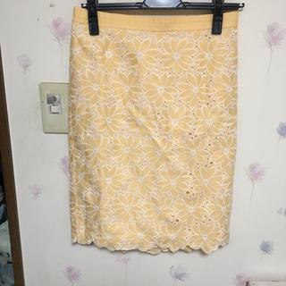 デミルクスビームス(Demi-Luxe BEAMS)のbeams レーススカート (ひざ丈スカート)