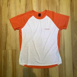 モンベル(mont bell)のモンベル ラグラン Tシャツ オレンジ L(Tシャツ/カットソー(半袖/袖なし))