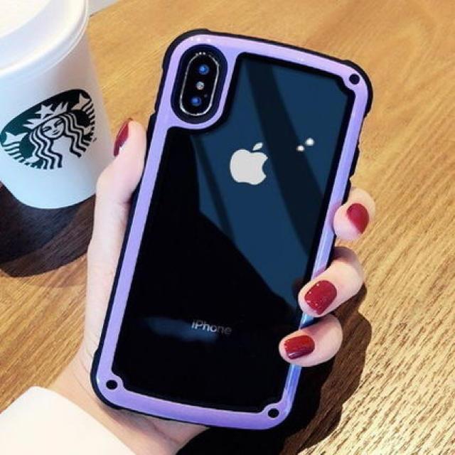 iphoneケース ブランド 男 、 縁どりシンプルクリアケースiPhone X XS XR 7 8の通販 by ARIGATO39商店's shop|ラクマ