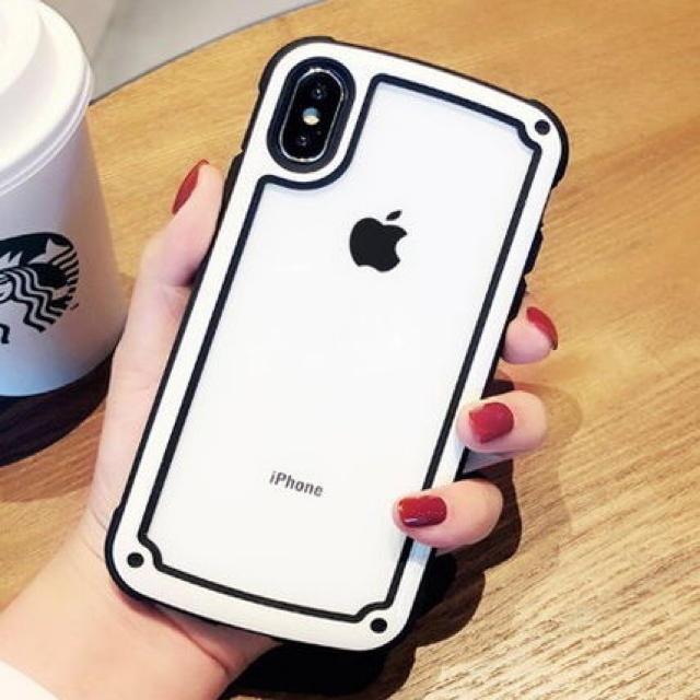 縁どりシンプルクリアケースiPhone X XS XR 7 8の通販 by ARIGATO39商店's shop|ラクマ
