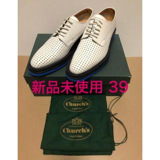 チャーチ(Church's)の新品 Church's チャーチ パンチング バイカラー レザーシューズ 39(ローファー/革靴)