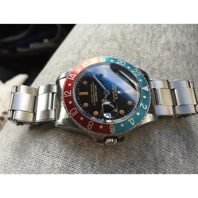 腕 時計 機械 | ROLEX - 1675 PCG(ヒラメ)GMTマスターGILTダイヤルM様専用の通販 by エクスペリエンス|ロレックスならラクマ