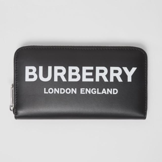BURBERRY(バーバリー)のBURBERRY バーバリー ラウンドジップ ロゴ プリント 長財布 メンズのファッション小物(折り財布)の商品写真