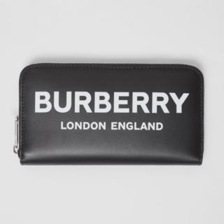 バーバリー(BURBERRY)のBURBERRY バーバリー ラウンドジップ ロゴ プリント 長財布(折り財布)
