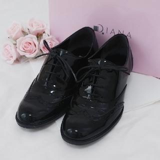 ダイアナ(DIANA)のほぼ新品❤オックスフォードシューズ【ブラック】(ローファー/革靴)