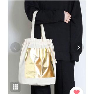 ビームス(BEAMS)のhaku print tote bag/箔プリント巾着トートバッグ(トートバッグ)