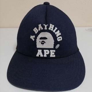 アベイシングエイプ(A BATHING APE)のA BATHING APE メッシュキャップ ネイビー(キャップ)