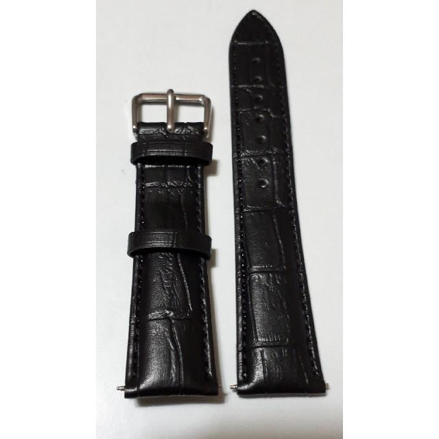 【新品・バネ棒付き】牛革・ブラック♪ラグ幅20mm・クロコダイル型押しベルトの通販 by tommy06274532's shop|ラクマ