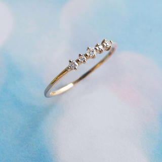 miroir k10ダイヤモンドピンキーリング(リング(指輪))
