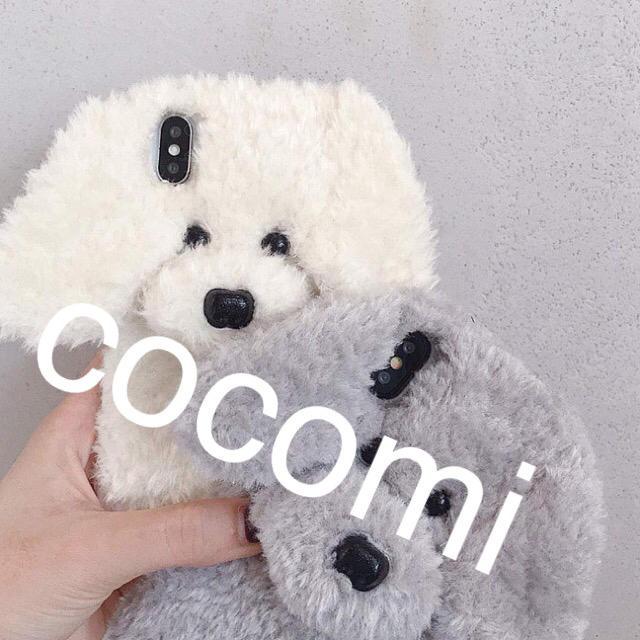 プードルぬいぐるみ携帯ケースiPhone6・6s iPhone7・7sの通販 by COCOMI;s shop|ラクマ