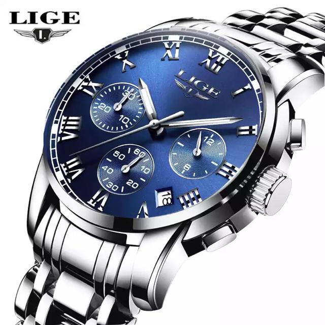 ジェイコブ コピー n品 | 腕時計 メンズ シルバー ブルーの通販 by クリボー's shop|ラクマ
