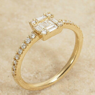 もあ様ご専用 BELLESIORA K18イエローゴールドダイヤリング 11号(リング(指輪))