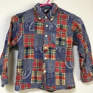 エムピーエス(MPS)の【110cm】MPSパッチワーク風カジュアルシャツ☆(Tシャツ/カットソー)