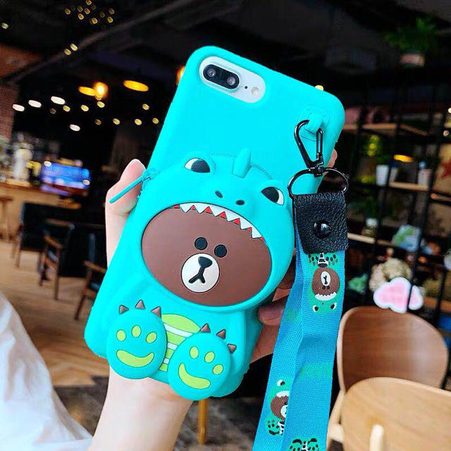 イヤホン入れ付きブラウン4種iPhone6から XR. XSMAXまで各機種対応の通販 by GV kim's shop|ラクマ