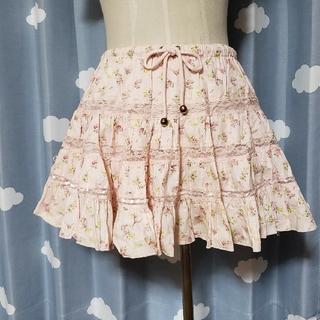 リズリサ(LIZ LISA)のLIZ LISA 花柄ティアードスカート♥️(ミニスカート)