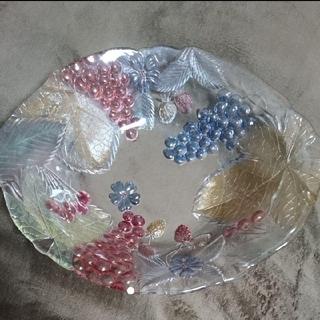 新品 高級 ガラス製 特大皿(食器)