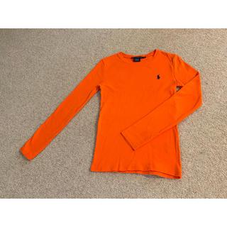 ラルフローレン(Ralph Lauren)の【ラルフローレン】 オレンジカラー ロングTシャツ(Tシャツ(長袖/七分))