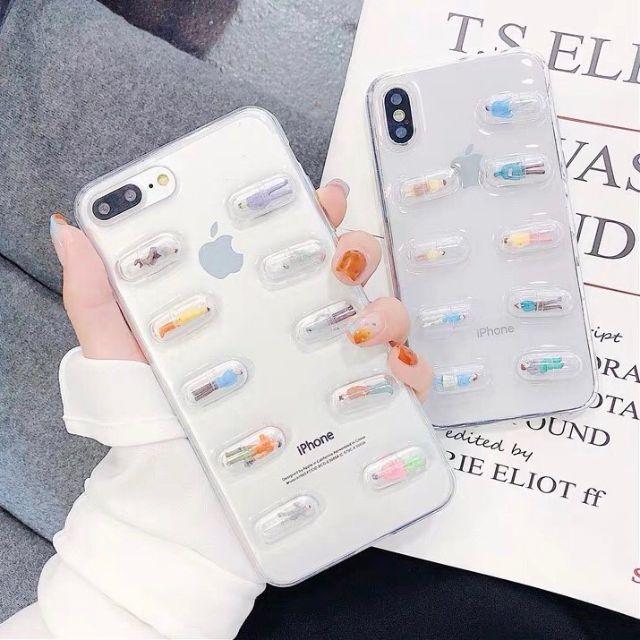 カプセル iPhoneケース 6/7/8/P/X/XR/Max人形入り カバーの通販 by JJ@iPhoneケース|ラクマ