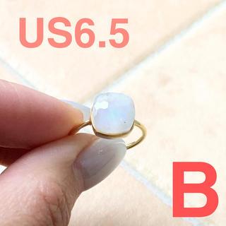 天然石 18k リング ムーンストーン インドジュエリー agete好きにも(リング(指輪))