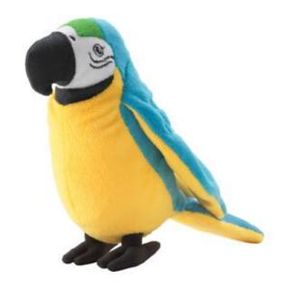 イケア(IKEA)のikea オウム ぬいぐるみ 鳥 ソフトトイ 南国 ONSKAD(ぬいぐるみ)