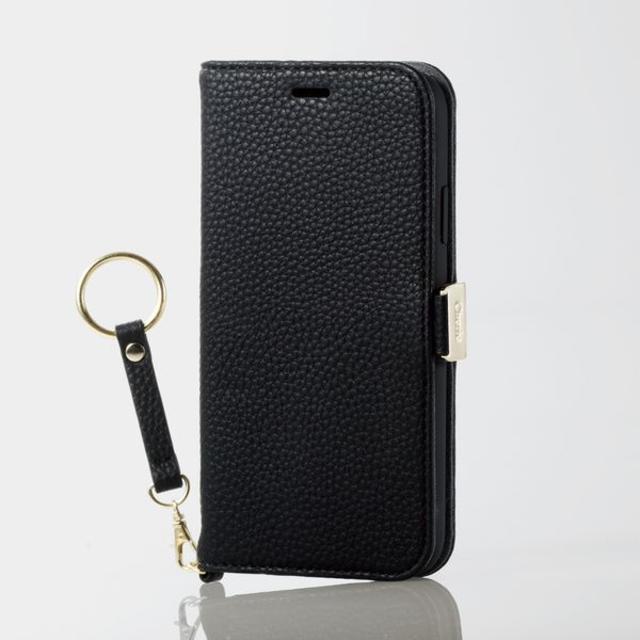 iphone8 ケース 手帳 型 衝撃 - ELECOM - iPhoneXR用ストラップ付きソフトレザーカバー ブラックの通販 by ヒッキー9543's shop|エレコムならラクマ