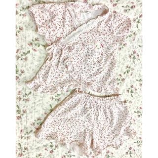 クーラクール(coeur a coeur)の限定セール!クーラクール 95 花柄 可愛い 甚平 夏祭り 花火 半袖 セット(甚平/浴衣)