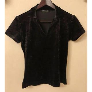 ルグランブルー(LGB)のLGB ルグランブルー ベロアの半袖ティーシャツ ブラック 美品  (Tシャツ(半袖/袖なし))