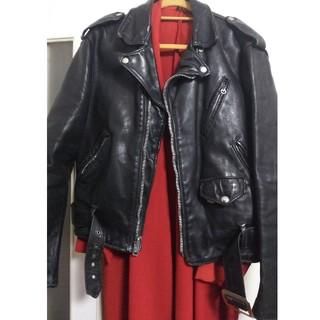 schott - SCHOTT 70s vintage Bros.label W Riders 牛