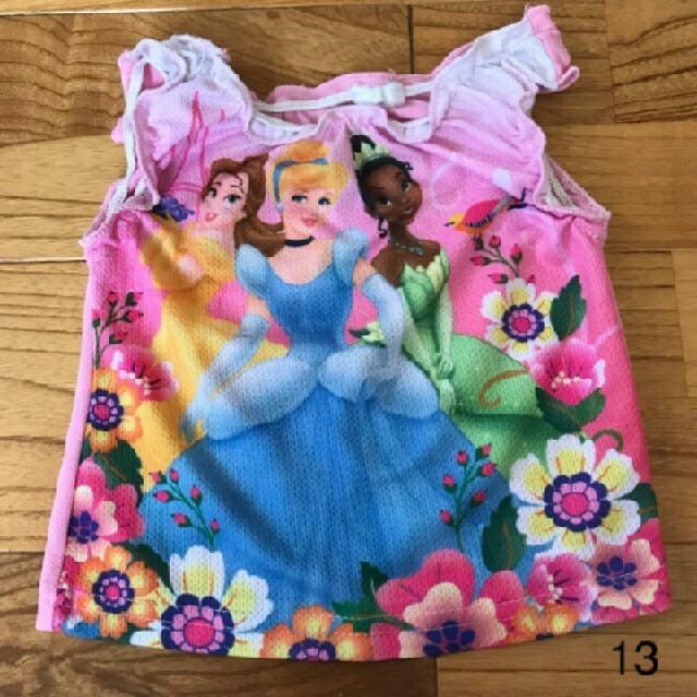 Disney(ディズニー)の②ディズニープリンセスタンクトップ キッズ/ベビー/マタニティのベビー服(~85cm)(タンクトップ/キャミソール)の商品写真