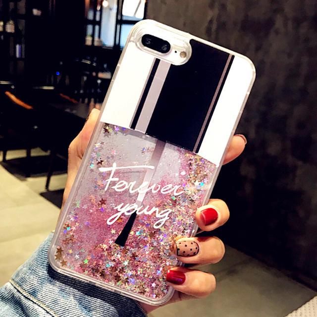 iphone 8 ケース クリア | ☆送料無料☆ネイルグリッターiPhoneケースの通販 by メルモ's shop|ラクマ
