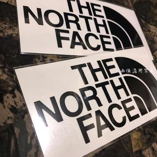 ザノースフェイス(THE NORTH FACE)の新品未使用 ノースフェイス カッティングステッカー 黒2枚(その他)