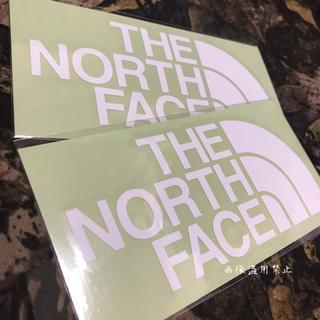 ザノースフェイス(THE NORTH FACE)の新品未使用 ノースフェイス カッティングステッカー 白2枚(その他)