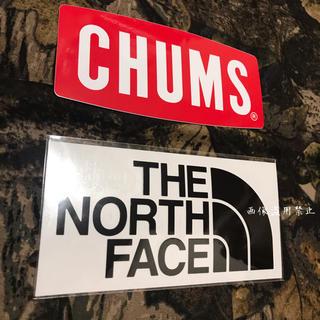 ザノースフェイス(THE NORTH FACE)の新品未使用 ノースフェイス&チャムス カッティングステッカー黒&ロゴステッカー(その他)