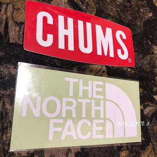 ザノースフェイス(THE NORTH FACE)の新品未使用 ノースフェイス&チャムス カッティングステッカー白&ロゴステッカー(その他)
