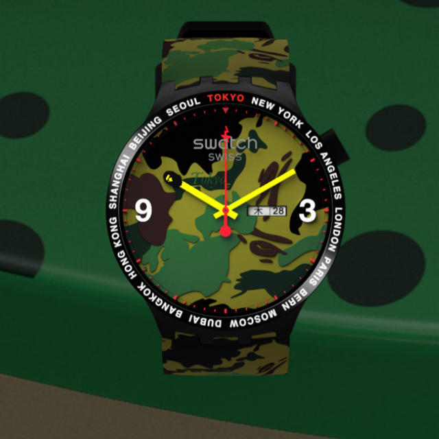 "A BATHING APE - swatch x A BATHING APE big bold 東京の通販 by tututu""s shop