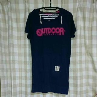 アウトドアプロダクツ(OUTDOOR PRODUCTS)のロングパーカーTシャツ(Tシャツ(半袖/袖なし))