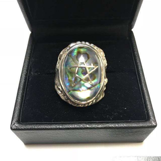 Chrome Hearts(クロムハーツ)の2018/アバロンシェル/アレックスストリーター/Alex Streeter メンズのアクセサリー(リング(指輪))の商品写真
