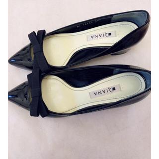 ダイアナ(DIANA)のダイアナ ローヒールリボンパンプス(ローファー/革靴)