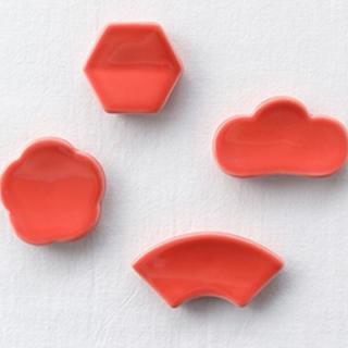 ムジルシリョウヒン(MUJI (無印良品))のCLASKA DO 箸置き 赤4個セット(カトラリー/箸)