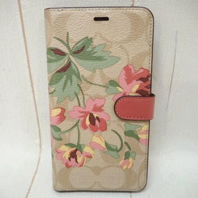 iphone 8 ケース 黒 | COACH - COACH コーチ 手帳型 iPhone XR ケース シグネチャー 花柄 PKの通販 by rainbow's shop|コーチならラクマ