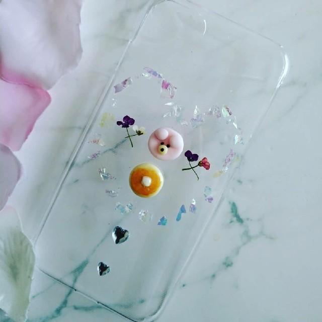 iPhoneケース ハンドメイド ネオンフレークの中のクマちゃんの通販 by RSI's shop|ラクマ